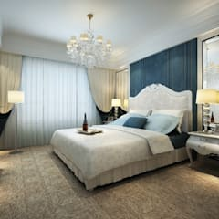 Villa Interior: classic Bedroom by TOPOS+PARTNERS