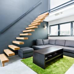 apartament dwupoziomowy: styl , w kategorii Korytarz, przedpokój zaprojektowany przez ENDE marcin lewandowicz