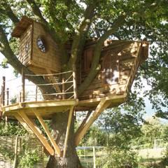 Vườn theo Squirrel Design Tree Houses Limited, Mộc mạc