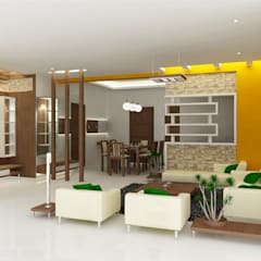 Minimalistic Interior spaces ---Living room interiors:  Living room by Preetham  Interior Designer