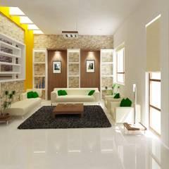 غرفة المعيشة تنفيذ Preetham  Interior Designer