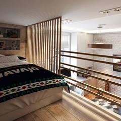 Habitaciones infantiles de estilo  por Дарья Баранович Дизайн Интерьера