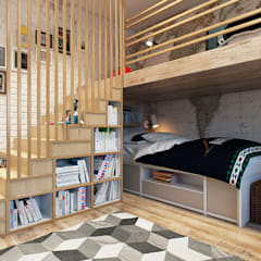 industriële Kinderkamer door Дарья Баранович Дизайн Интерьера