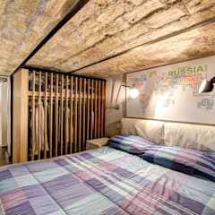 MACHIAVELLI: Camera da letto piccola in stile  di MOB ARCHITECTS