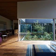 東村山の家: 石井秀樹建築設計事務所が手掛けた庭です。