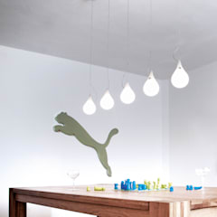 DROP_2 xs Chandelier - long 5: modern  von next home collection e.K.,Modern