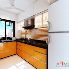 Upcoming project in Mumbai:  Kitchen units by Squaare Interior