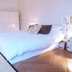 """Chambre """"esprit japonais"""": Chambre de style  par Madame Prune"""