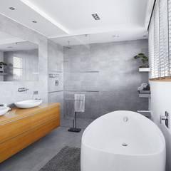 IQube House_: styl , w kategorii Łazienka zaprojektowany przez ARCHiPUNKTURA .architekci detalu