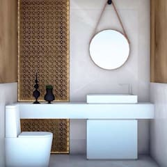 Washroom:  Bathroom by Robson Martins Interior Design,