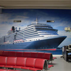 A selection of wall art designed and installed by the team at Universal Graphix:  Airports by Universal Graphix