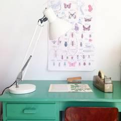 Voorbeelden: rustieke & brocante Studeerkamer/kantoor door Retroloekie