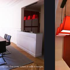 Spontini: Bureau de style de style eclectique par Agence Diot-Clément
