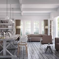 Rocas D Salas de jantar modernas por vmavi Moderno