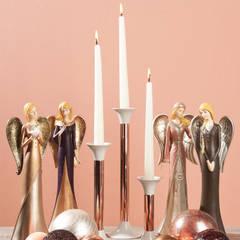 Metall-Kerzenleuchter Lux:   von Drescher,Klassisch