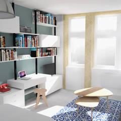 """Rénovation studio """"place Saint-Paul"""": Salon de style  par AÏDO"""