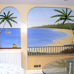 Tropical paradise mural:  Walls by Marvellous Murals