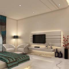 Master Bedroom:  Bedroom by K Mewada Interior Designer