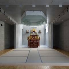 真光寺本堂: 株式会社間宮晨一千デザインスタジオが手掛けた空港です。