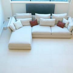 Swiss Cottage Salon minimaliste par Adam Coupe Photography Limited Minimaliste