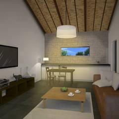 Vue intérieure - Salon-: Maisons de style  par AC architecture