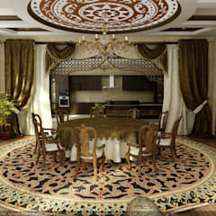 Dining room by Цунёв_Дизайн. Студия интерьерных решений., Tropical