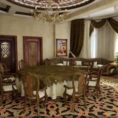 ห้องทานข้าว โดย Цунёв_Дизайн. Студия интерьерных решений., ทรอปิคอล