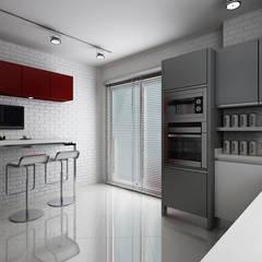 Niyazi Özçakar İç Mimarlık – E.K. EVİ:  tarz Mutfak, Modern