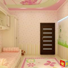Детская в частном доме: Спальни в . Автор – Цунёв_Дизайн. Студия интерьерных решений., Эклектичный
