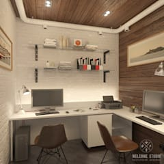Study/office by Мастерская дизайна Welcome Studio