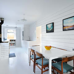 Heath Cottage Dining Area:  Dining room by Brown + Brown Architects