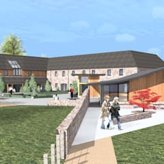 Visitors Centre / Farmshop / Restaurant :  Exhibition centres by Architects Scotland Ltd