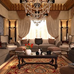 Living room by MHD Design Group