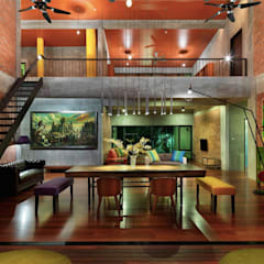 Rumah mampan berfungsi and menjimatkan wang:  Living room by Elaine Wall