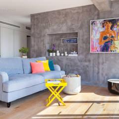 f12 Photography – Belkıs Apartment:  tarz Oturma Odası,