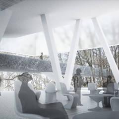 Vue de terrasse1: Palais des congrès de style  par Wen Qian ZHU Architecture