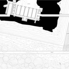 Plan niveau 0: Palais des congrès de style  par Wen Qian ZHU Architecture