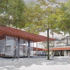 Vue de la rue: Centre d'expositions de style  par Wen Qian ZHU Architecture, Moderne
