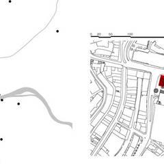 Plan de situation: Centre d'expositions de style  par Wen Qian ZHU Architecture, Moderne