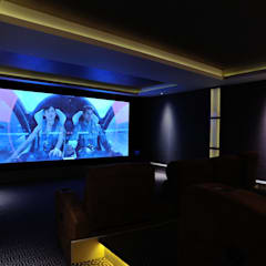 Cinema rooms:  Media room by Mille Couleurs London