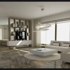 Archidecors – Bodrum Gümüşlük - Villa Projesi:  tarz Oturma Odası,