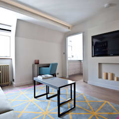 City Pied a Terre:  Living room by Black and Milk | Interior Design | London