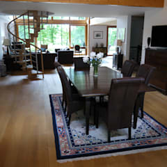 salle à manger: Salle à manger de style de style Colonial par Nuance d'intérieur
