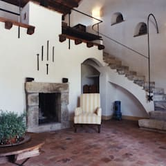 Salones de estilo  de Architetto Giuseppe Prato, Rústico