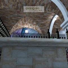 Alles aus einer Hand: rustikaler Weinkeller von Art of Bath
