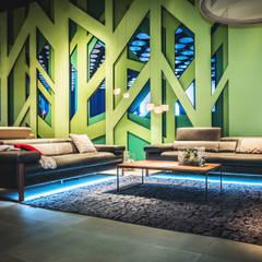 Blick in Restaurant:  Messe Design von Architekturbüro Wörner