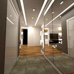 Pasillos y vestíbulos de estilo  por WW Studio Architektoniczne , Escandinavo