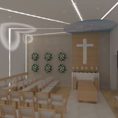kaplica pogrzebowa w Ostródzie: styl , w kategorii Szpitale zaprojektowany przez ap. studio architektoniczne Aurelia Palczewska-Dreszler