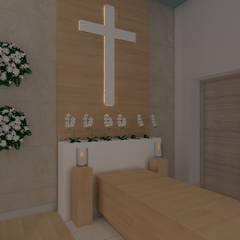 kaplica pogrzebowa w Ostródzie: styl , w kategorii Szpitale zaprojektowany przez ap. studio architektoniczne Aurelia Palczewska-Dreszler,