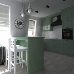 mieszkanie  industrialne w Iławie 2: styl , w kategorii Kuchnia zaprojektowany przez ap. studio architektoniczne Aurelia Palczewska-Dreszler